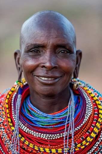 Samburu woman from Samburuland, Kenya