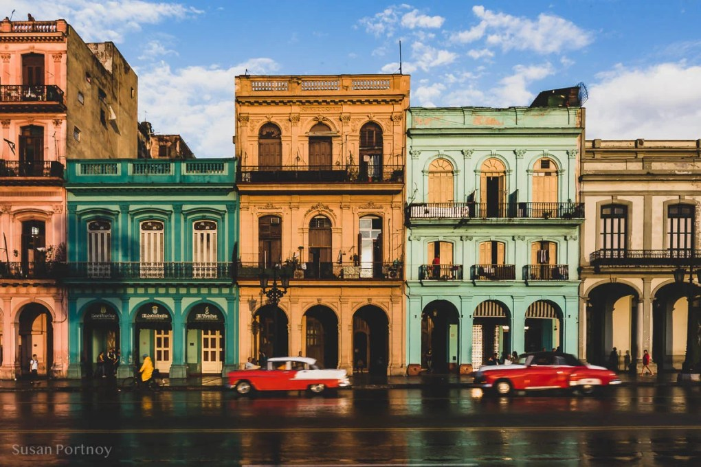 The colorful buildings on Paseo de Marti