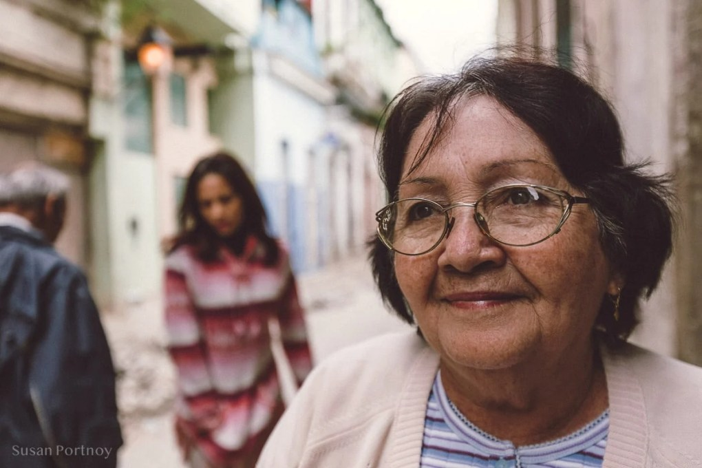 Older woman portrait in Old Havana
