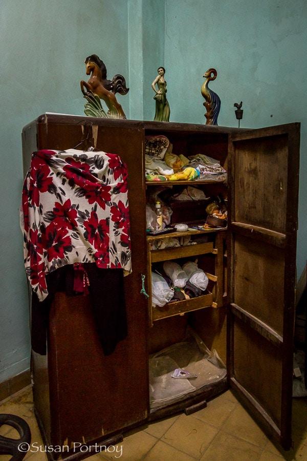 Photographing Maria Theresa's closet in Havana Cuba