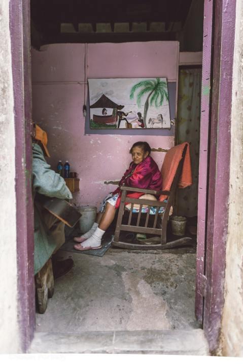 Portrait of a Cuban woman in Havana