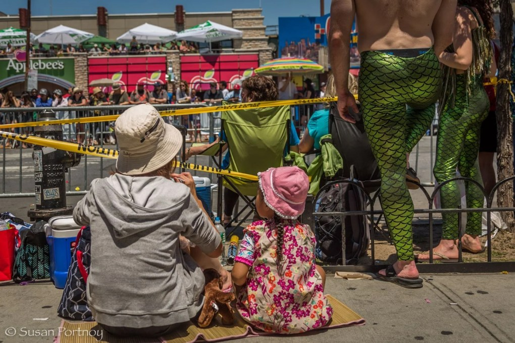 Fans watching the Coney Island Mermaid Parade 2016