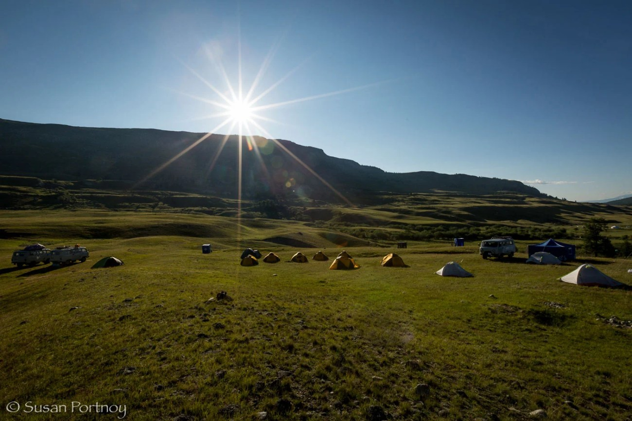 Camp site in Altai Tavan Bogd National Park, Mongolia