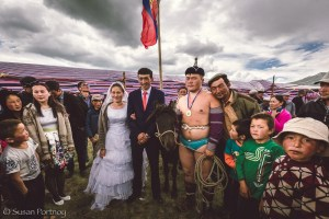Scenes from a Kazakh wedding in Mongolia