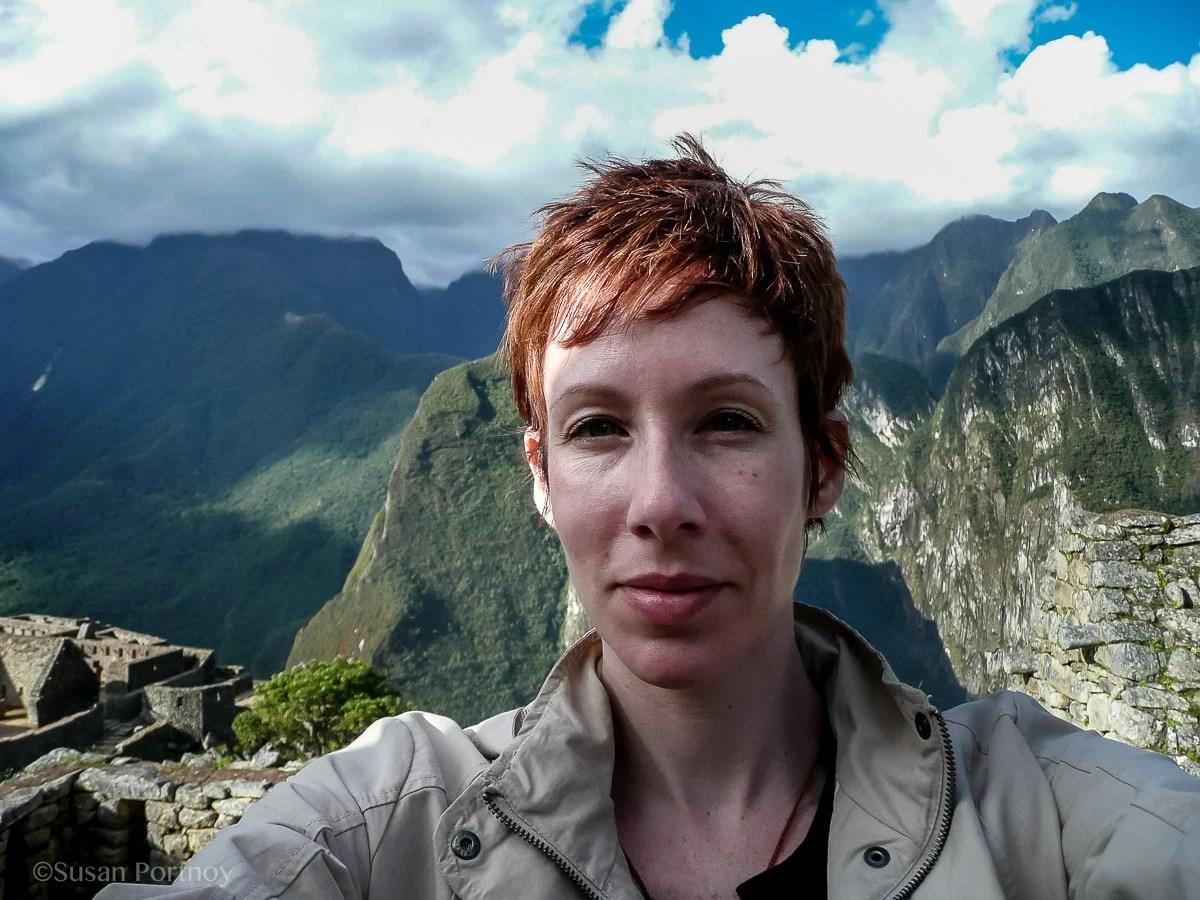 Susan Portnoy, The Insatiable Traveler at Machu Picchu