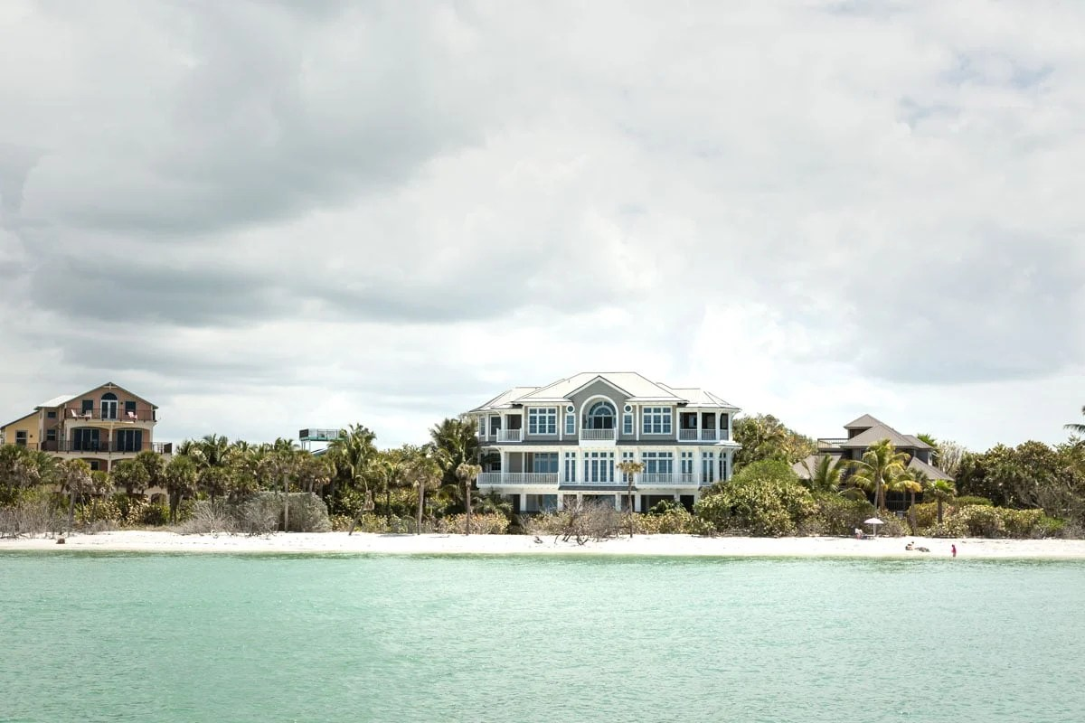One of the homes on North Captiva, which you can only reach by boat.