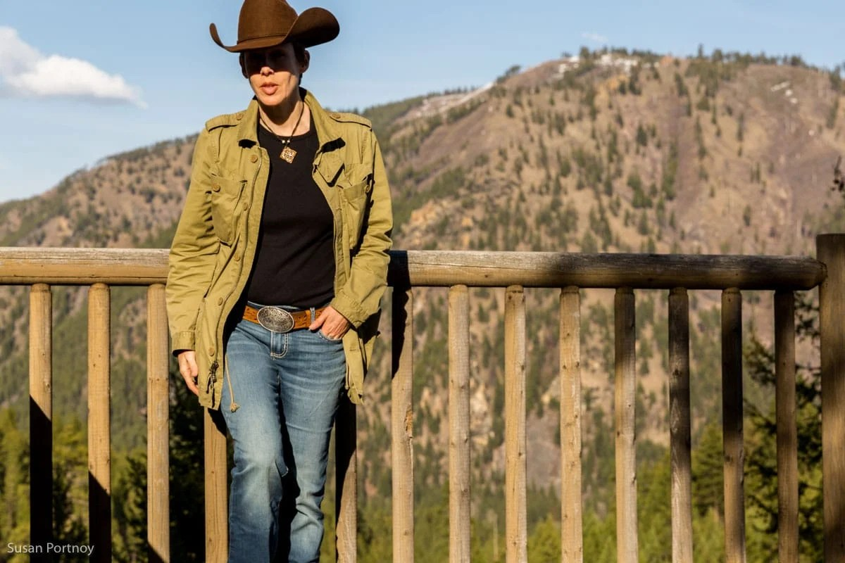 Susan Portnoy, The Insatiable Traveler, at Triple Creek Ranch in Darby, Montana