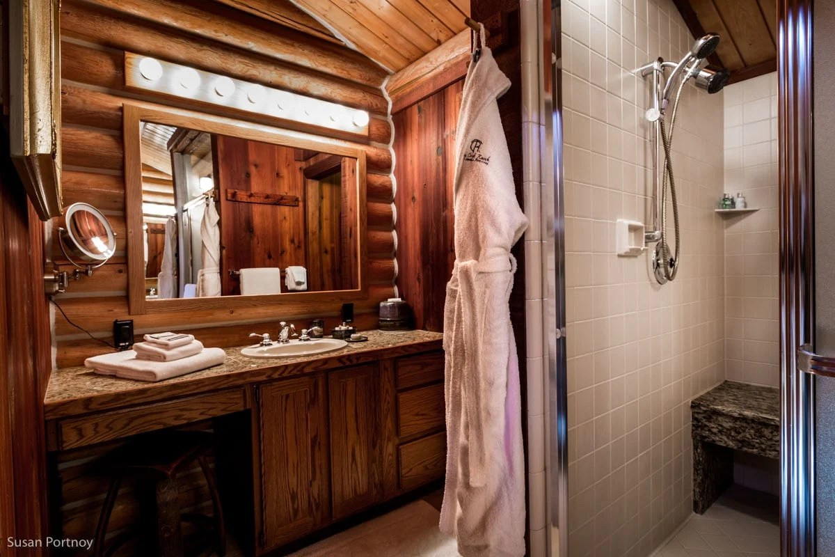 The her of the his and her bathroom at Triple Creek Ranch