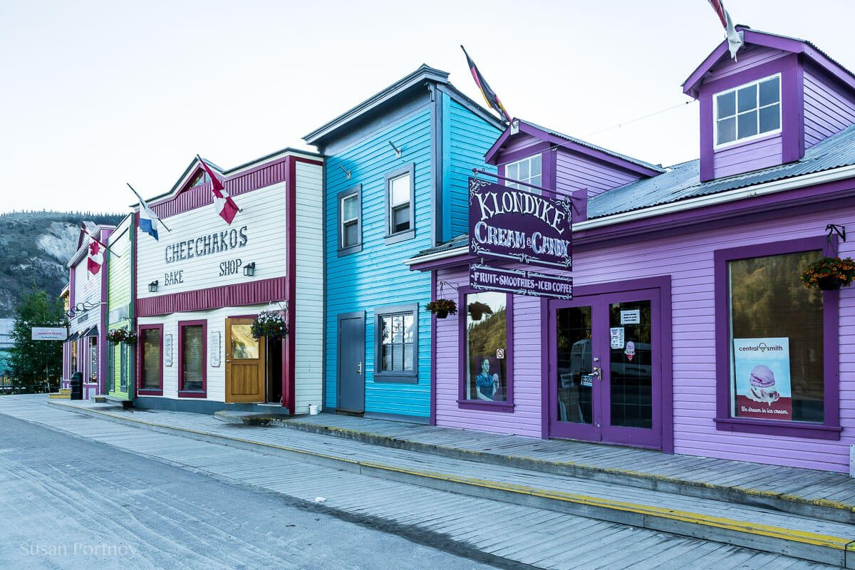 Frontier style buildings that harken back to the gold rush days, Dawson City, the Heart of the Klondike Gold Rush-8741