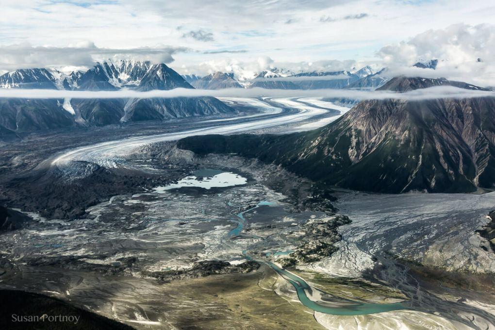 Toe of the Kaskawulsh glacier in Yukon's Kulane National Park-1041