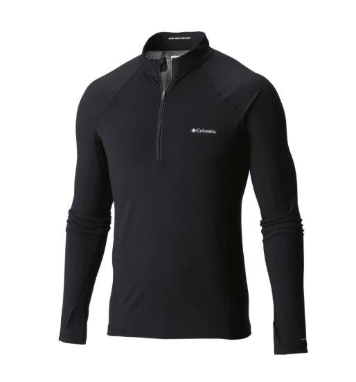 Men's Midweight Stretch Long Sleeve Baselayer Half Zip Shirt