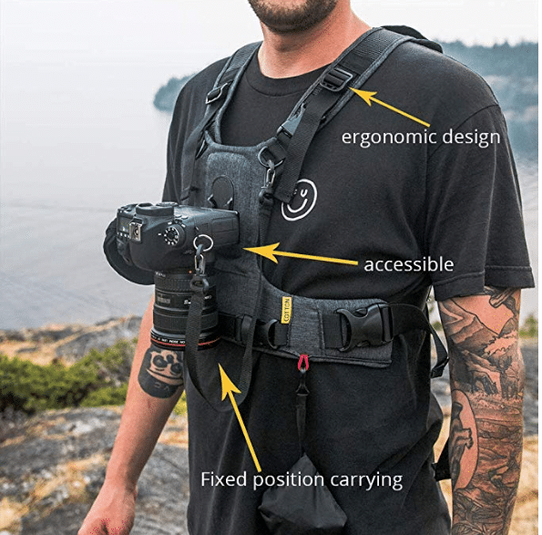 Cotton Carrier G3 1 Camera Harness Gray