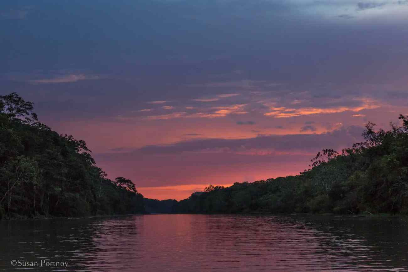 Sunset over the Amazon | 6 Things to love about a luxury River Cruise on the Amazon -0987