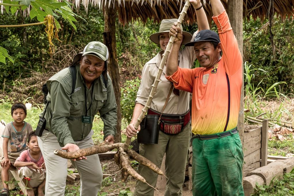 Harvesting a yucca plant |Amazon_International Expeditions -75