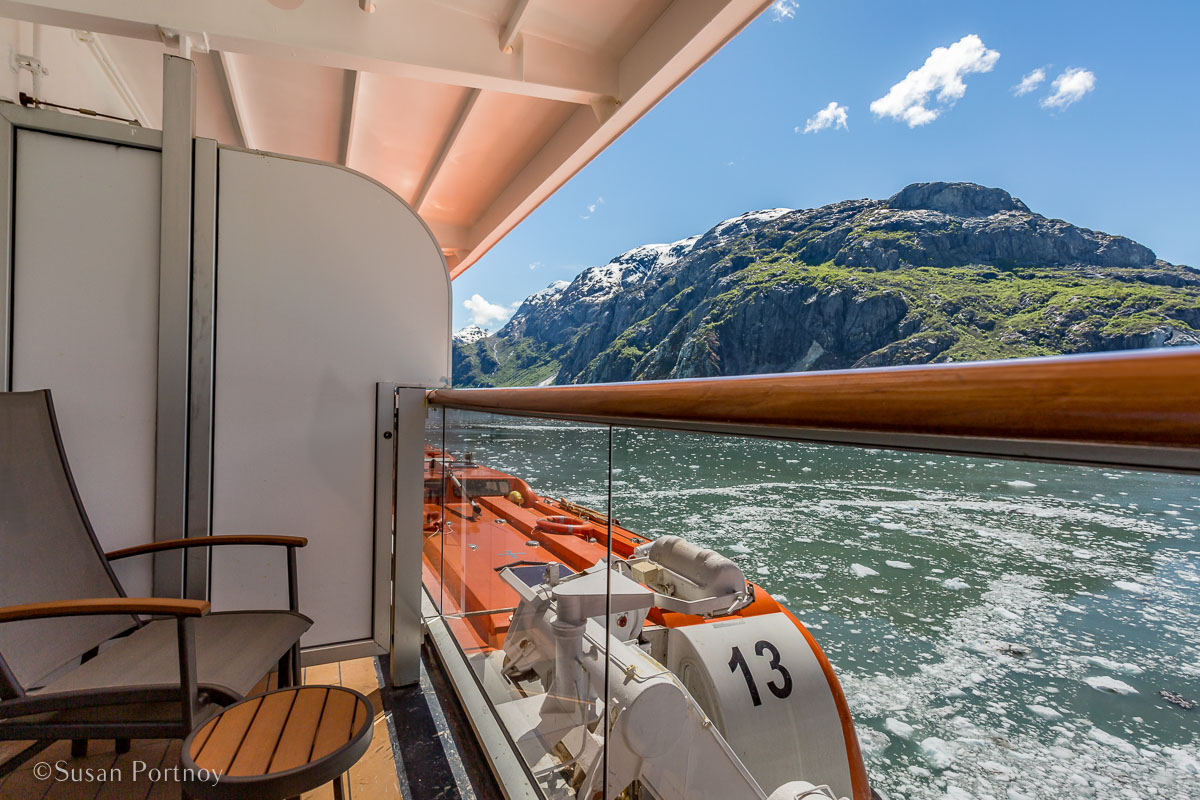 My private veranda! Loved. - Lessons Learned on an Alaskan Cruise -