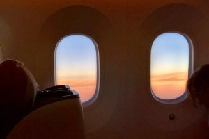 The Windows on the inaugural flight of Kenya Airways JFK to Nairobi
