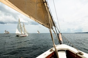 View from the bow of the J & E Riggin Windjammer Cruise in Maine. -Windjammer cruise in Maine-715620180706