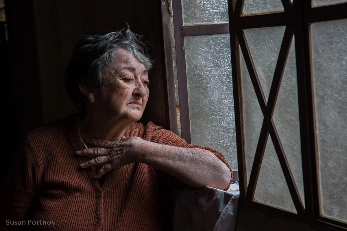 Marie Theresa  by the window in Havana