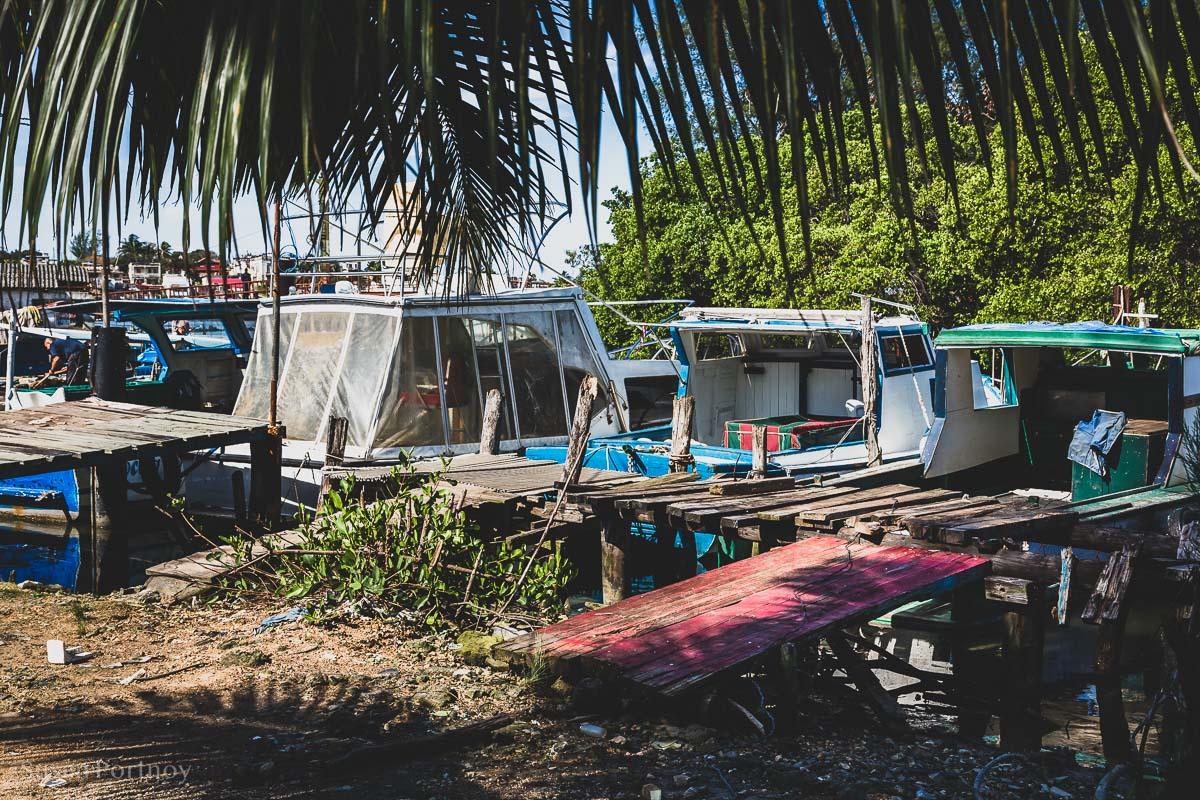 Ramshackle marina in Cojimar, Cuba
