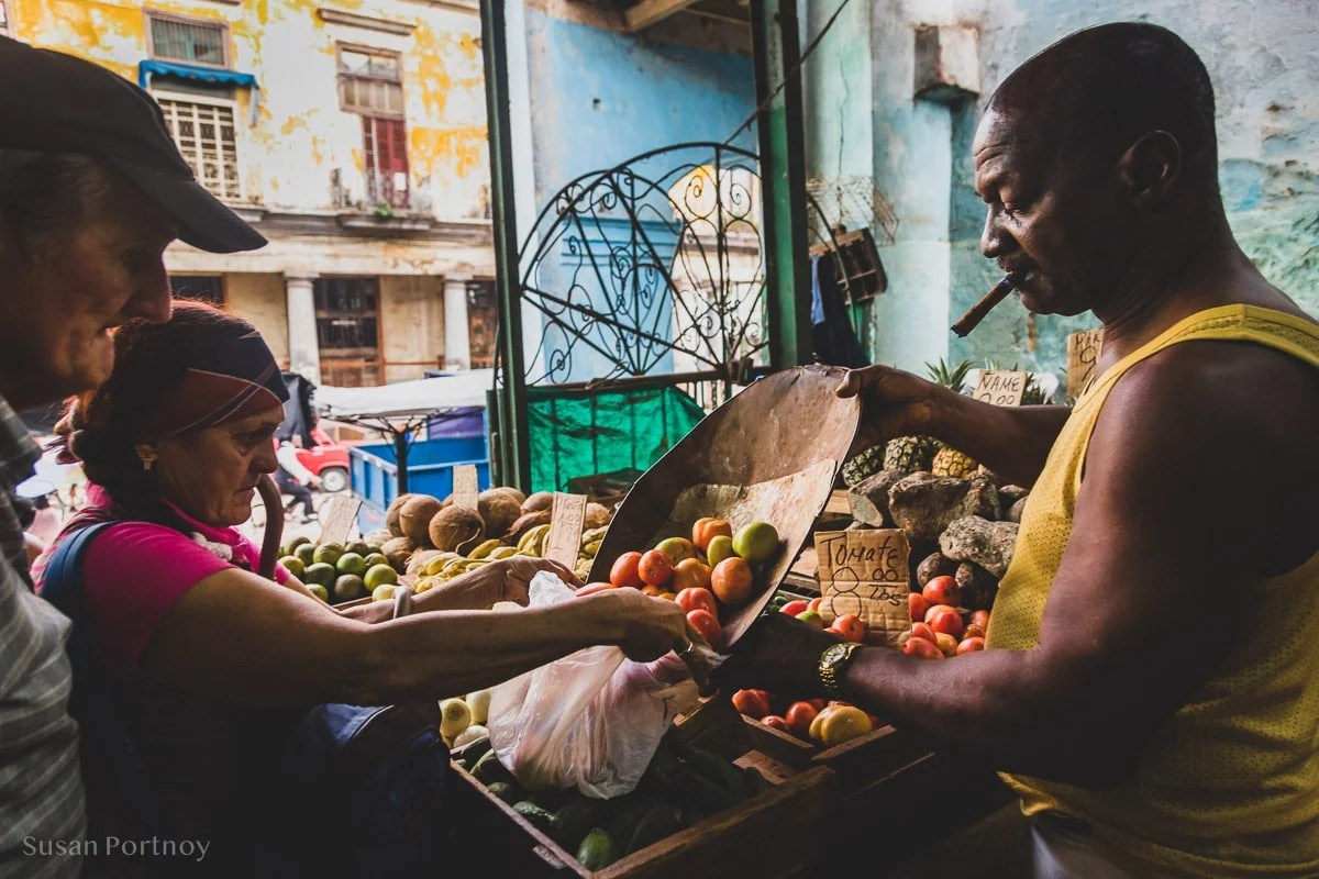 Calle 19 Green Market in Havana