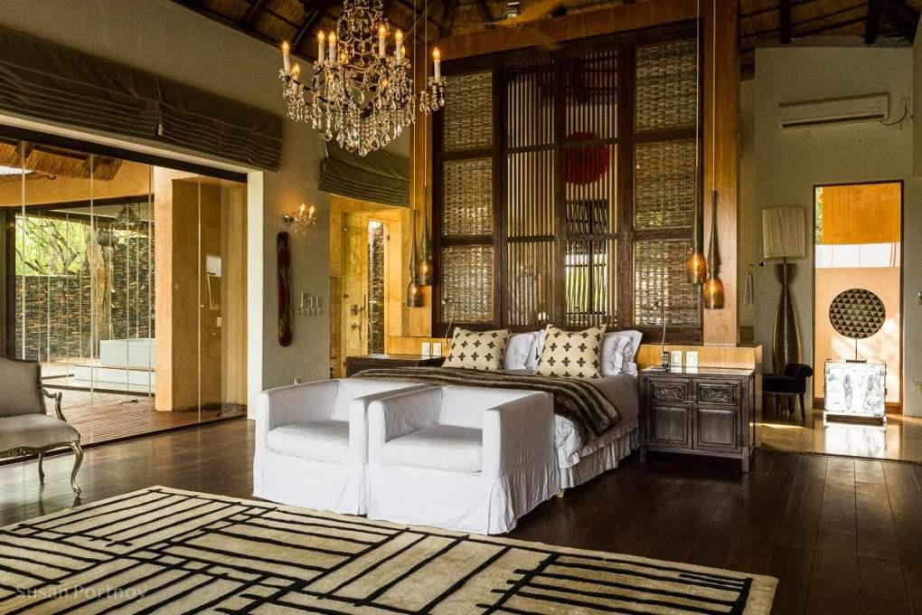 My bedroom in the private villa at Molori Safari Lodge