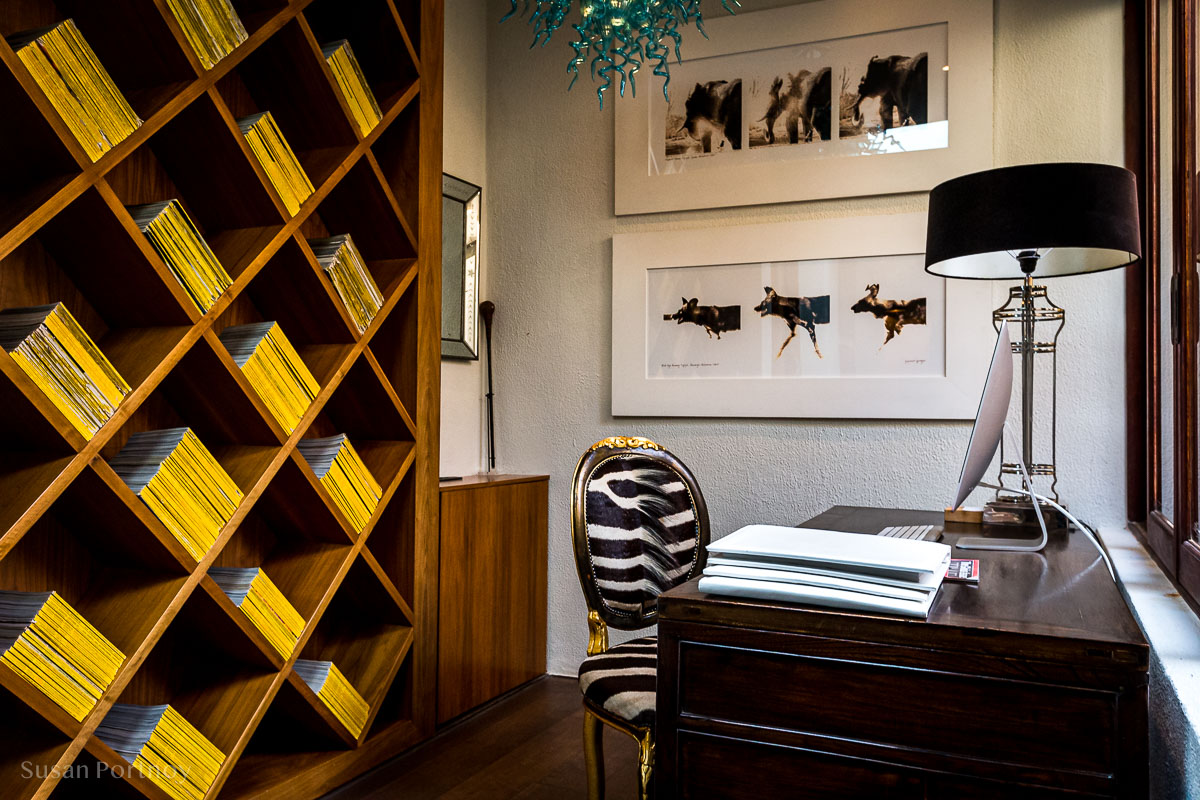 The study with every National Geographic ever printed - Molori Safari Lodge Madikwe