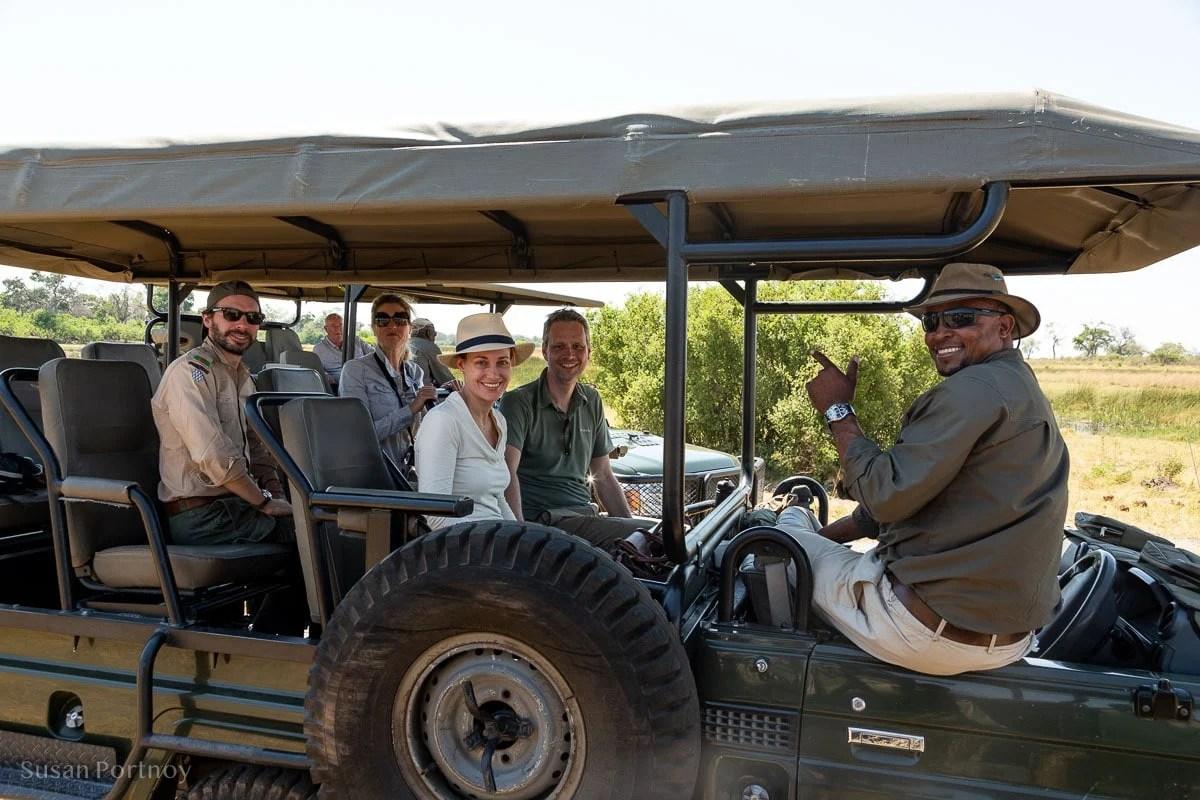People in a jeep on safari - safari Packing List