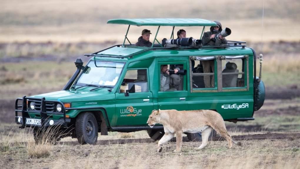 Wild Eye vehicle on Safari - African Photo Safaris
