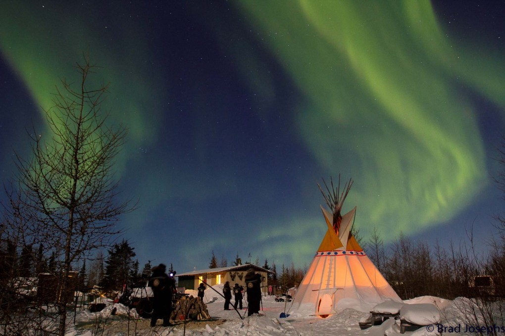 Natural Habitat Adventures - Mushers' camp  with teepee