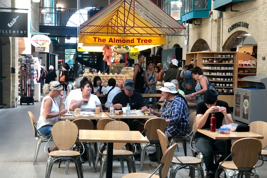 Inside the Food Court at The Forks in Winnipeg Manitoba