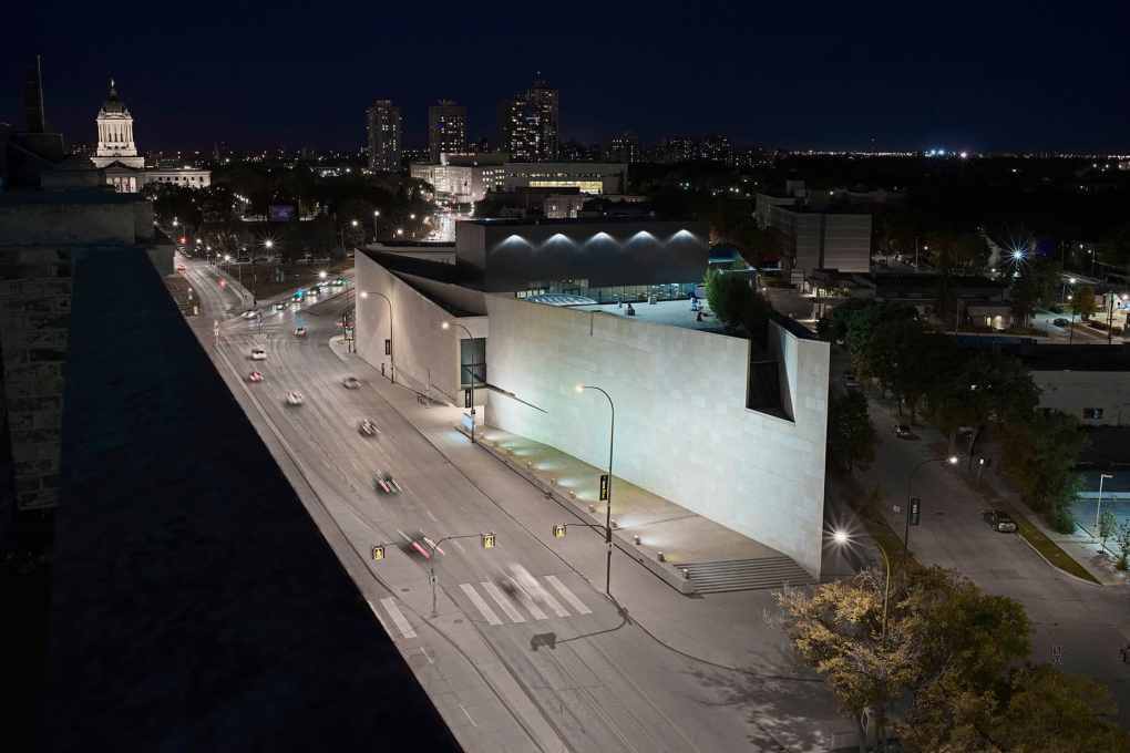 Aerial view of the Winnipeg Art Gallery