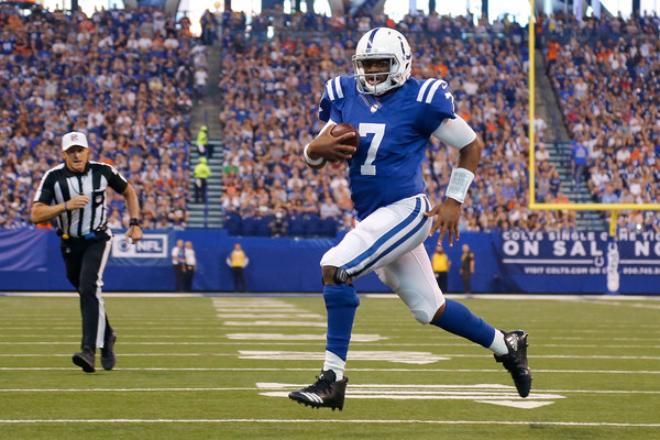 Jacoby Brissett (Sept. 24, 2017 - Source: Michael Reaves/Getty Images North America)