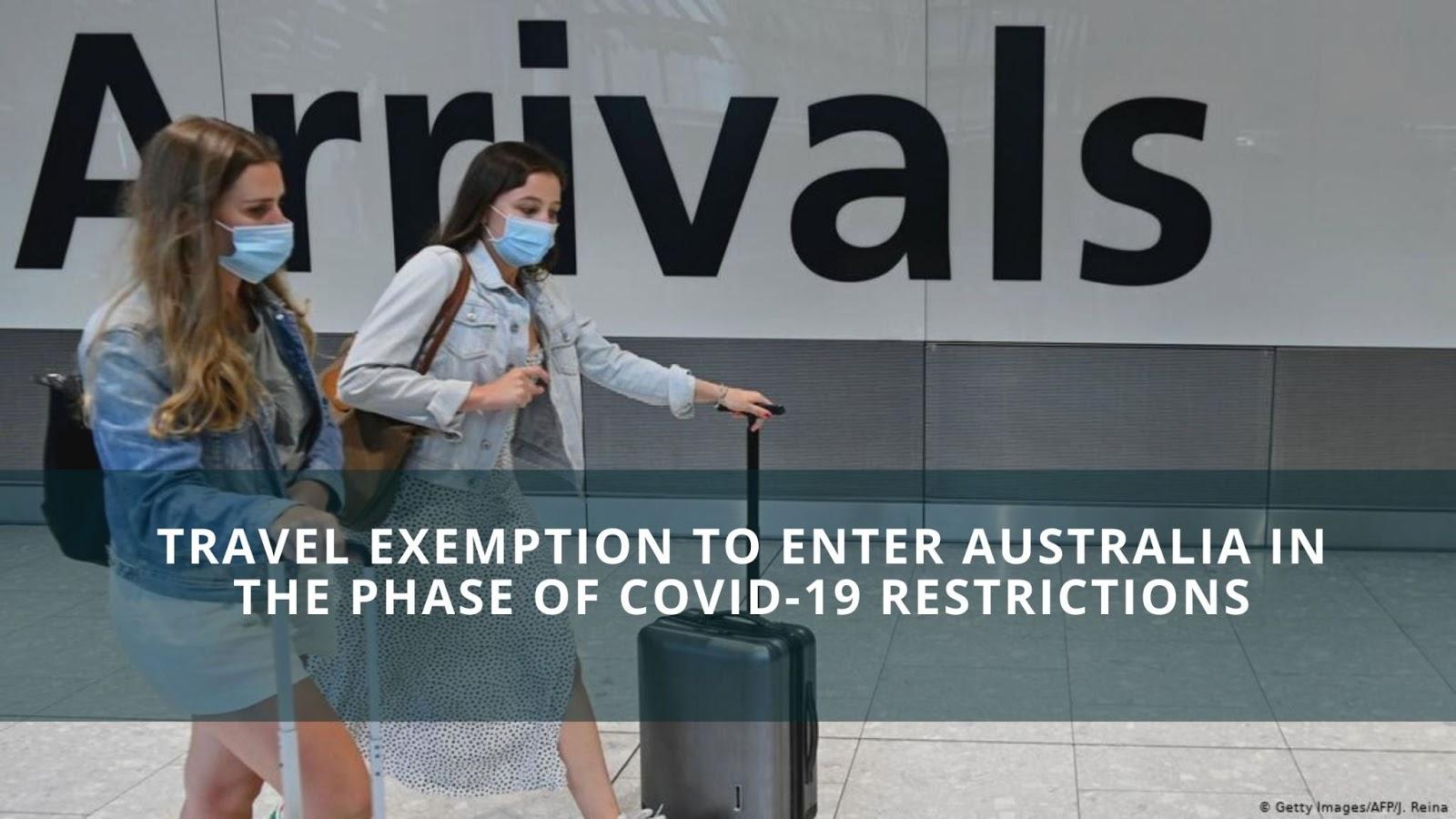 Australia exemption to travel