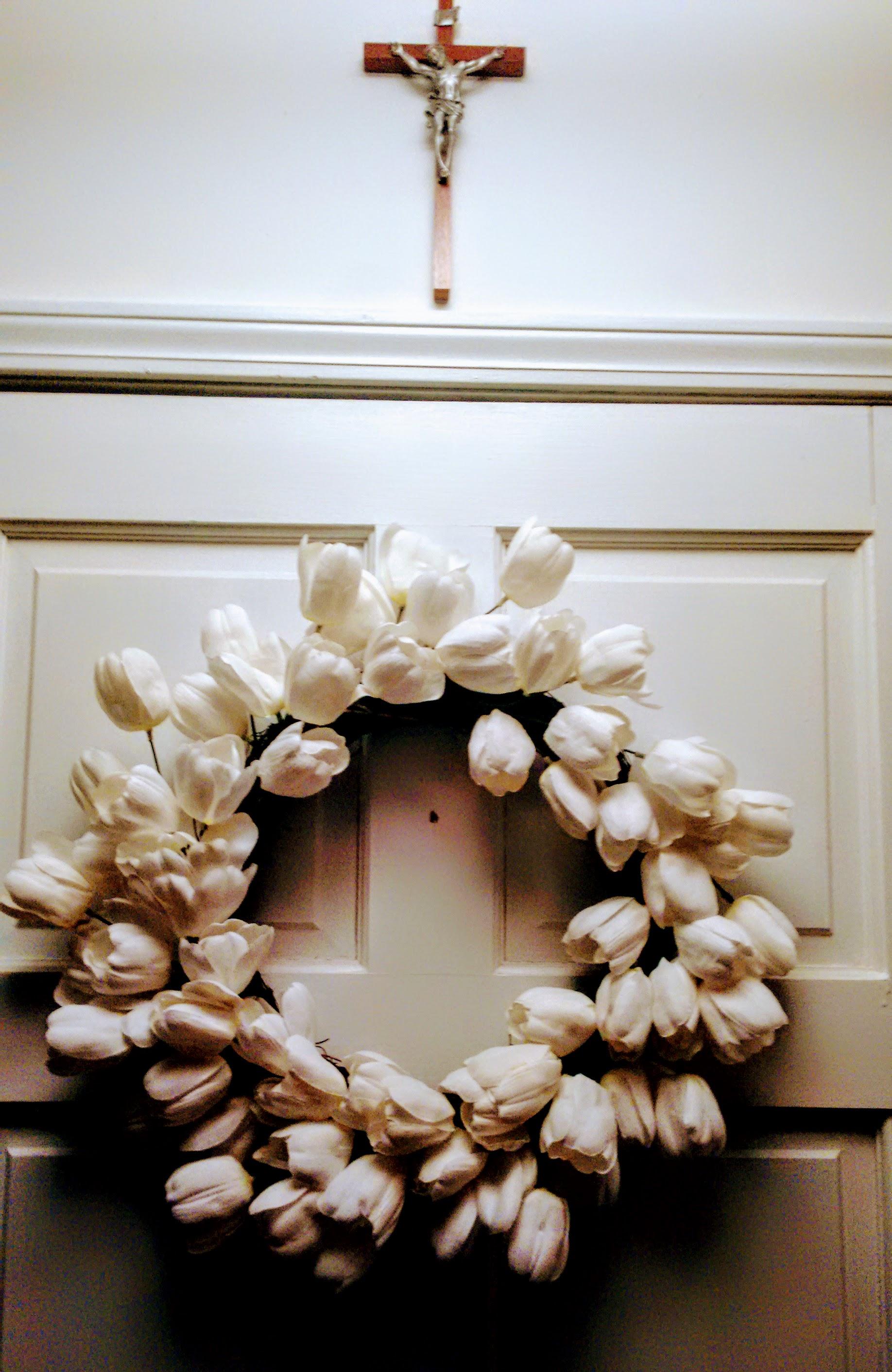 flowers on the door