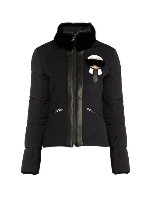 Fendi 'Karlito' Fur-trim performance jacket