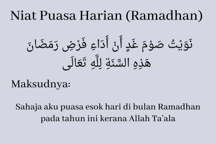 Niat Puasa Harian (Ramadhan)