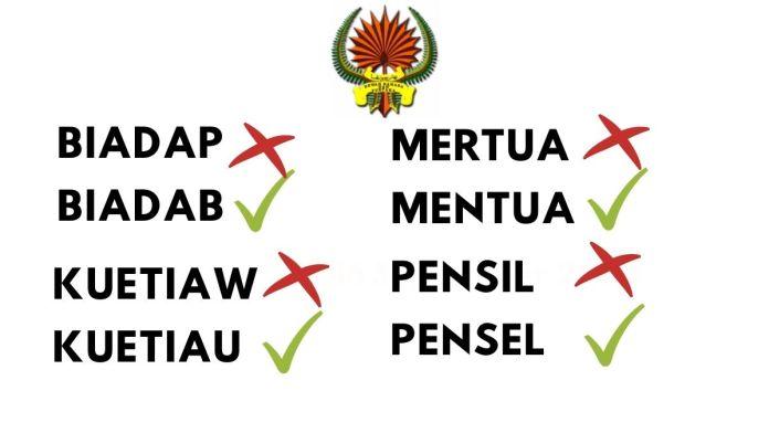 Senarai Ejaan Yang Betul Dalam Bahasa Melayul Yang Sering Kita Keliru