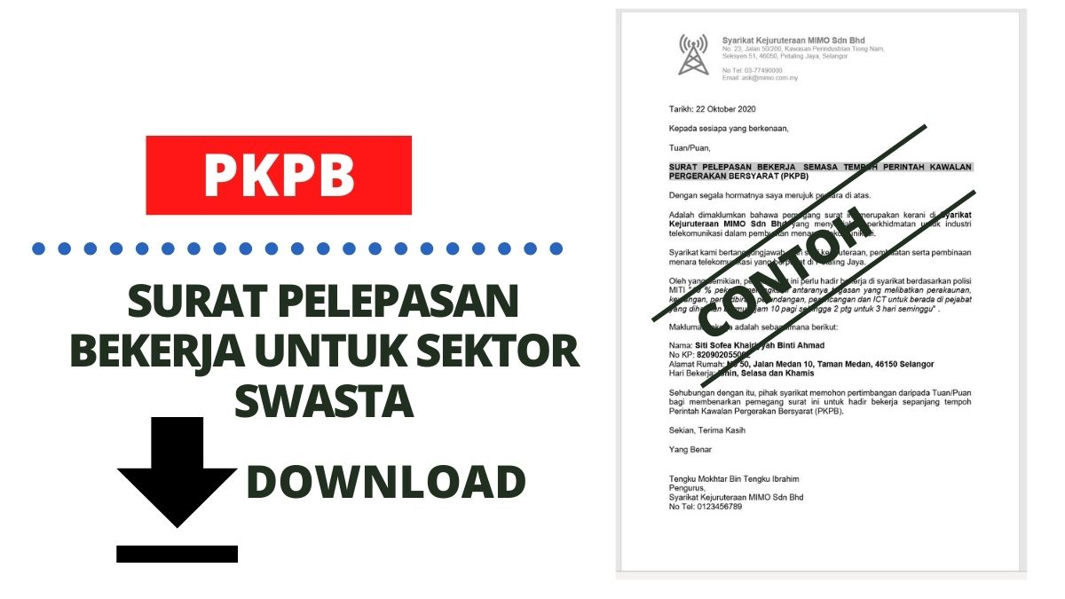 Contoh Surat Pelepasan Bekerja Pkpb Untuk Sektor Swasta