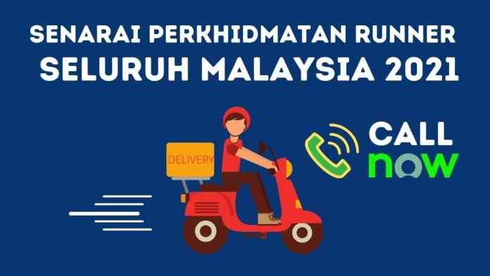Senarai Perkhidmatan Runner Delivery Seluruh Malaysia 2021