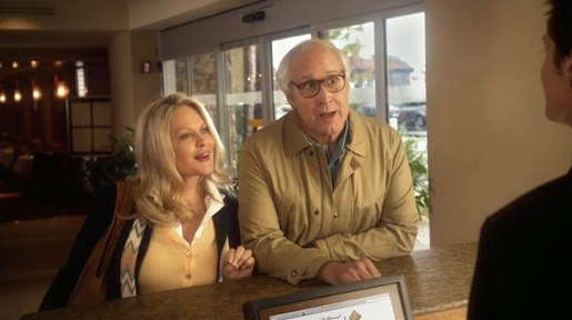 Clark and Ellen Griswold in Homeaway Hotel Hell Vacation
