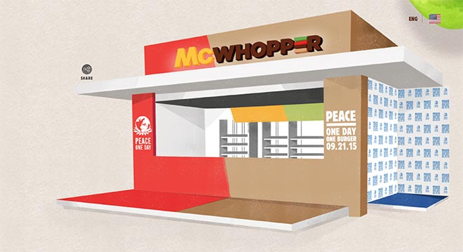 McWhopper site Pop Up Store