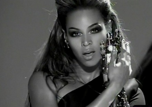 A still of the singer Beyoncé from the video for her song