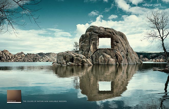 Rock in Valspar print ad