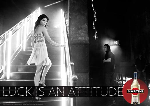 Martini Luck is an attitude print ad