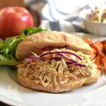 Slow Cooker Apple Cider Chicken Sandwiches