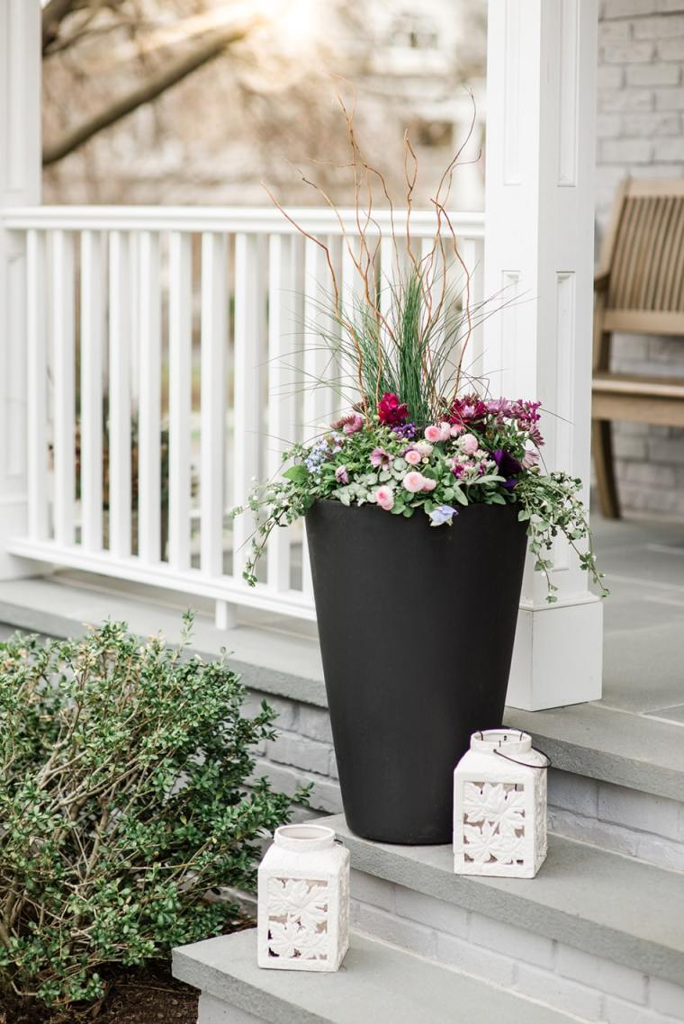 early spring container garden example by Inspired Garden Maplewood New Jersey
