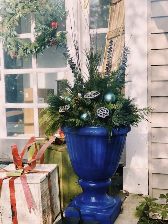 winter container garden example by Inspired Garden Maplewood New Jersey
