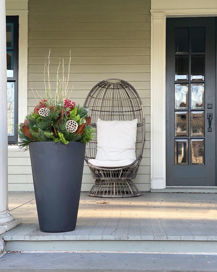 winter container garden example 2020