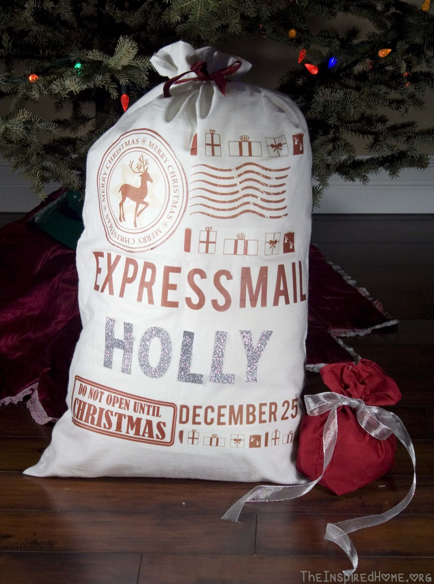 Diy Ts Santa Sack Two Ways The Inspired Home