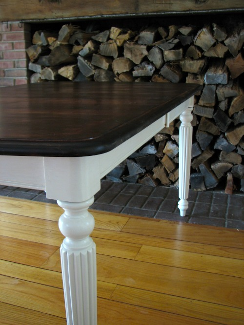 Mahogany Farm Table Craigslist Makeover Before Amp After